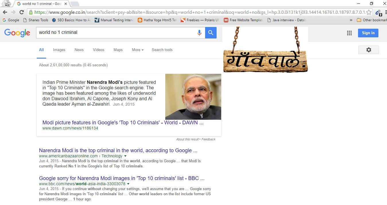 Google Search Engine Got Sucks Showing Un Ethical News