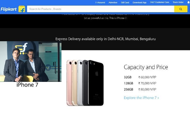 iPhone 7 on flipkart