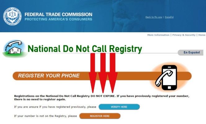 national do not call list registration