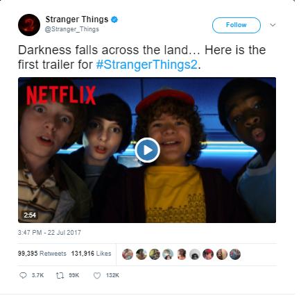 Stranger Things 2 trending
