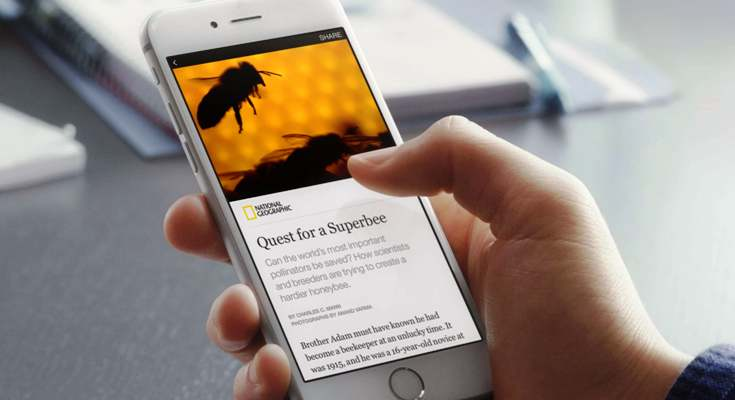 Facebook's instant articles service