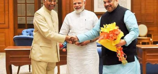 ram nath kovind persident of india , PM Narendra Modi and amit shah