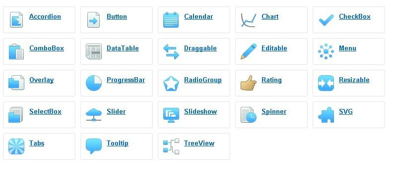 jQuery Framework Interface