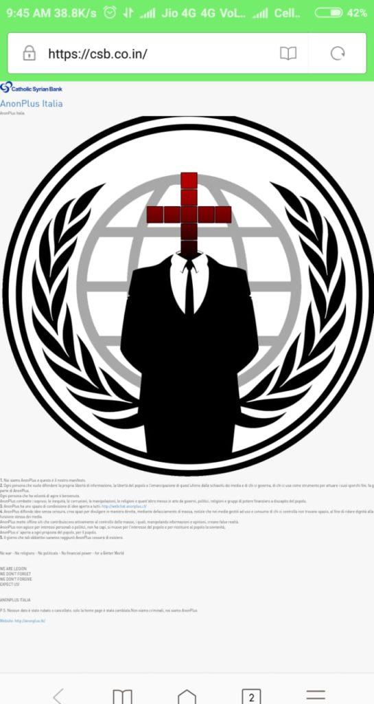 csb website hacked